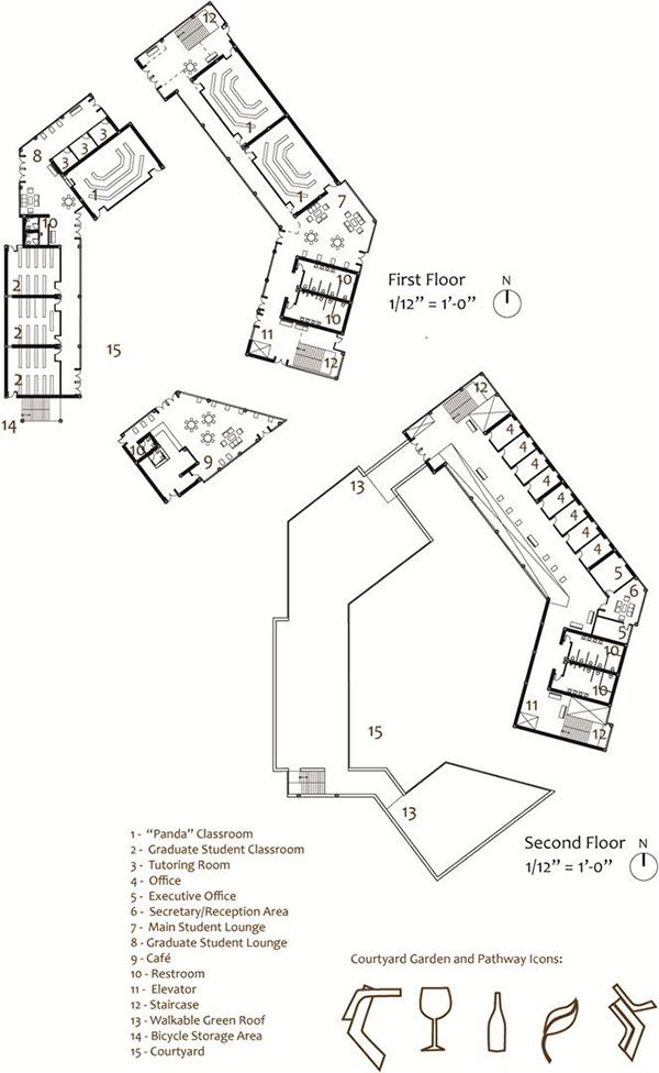 Cal Poly Pomona Culinary Arts School Building Addition Floorplans