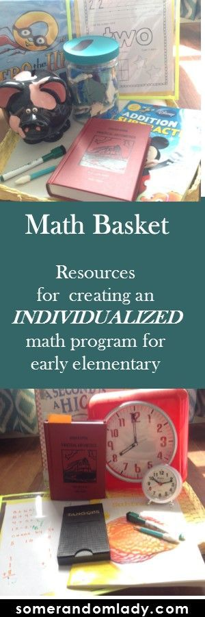 Resources for an individualized math program for kindergarten and early elementary. Click through for a free printable of our top ten math activities for independent play and learning.