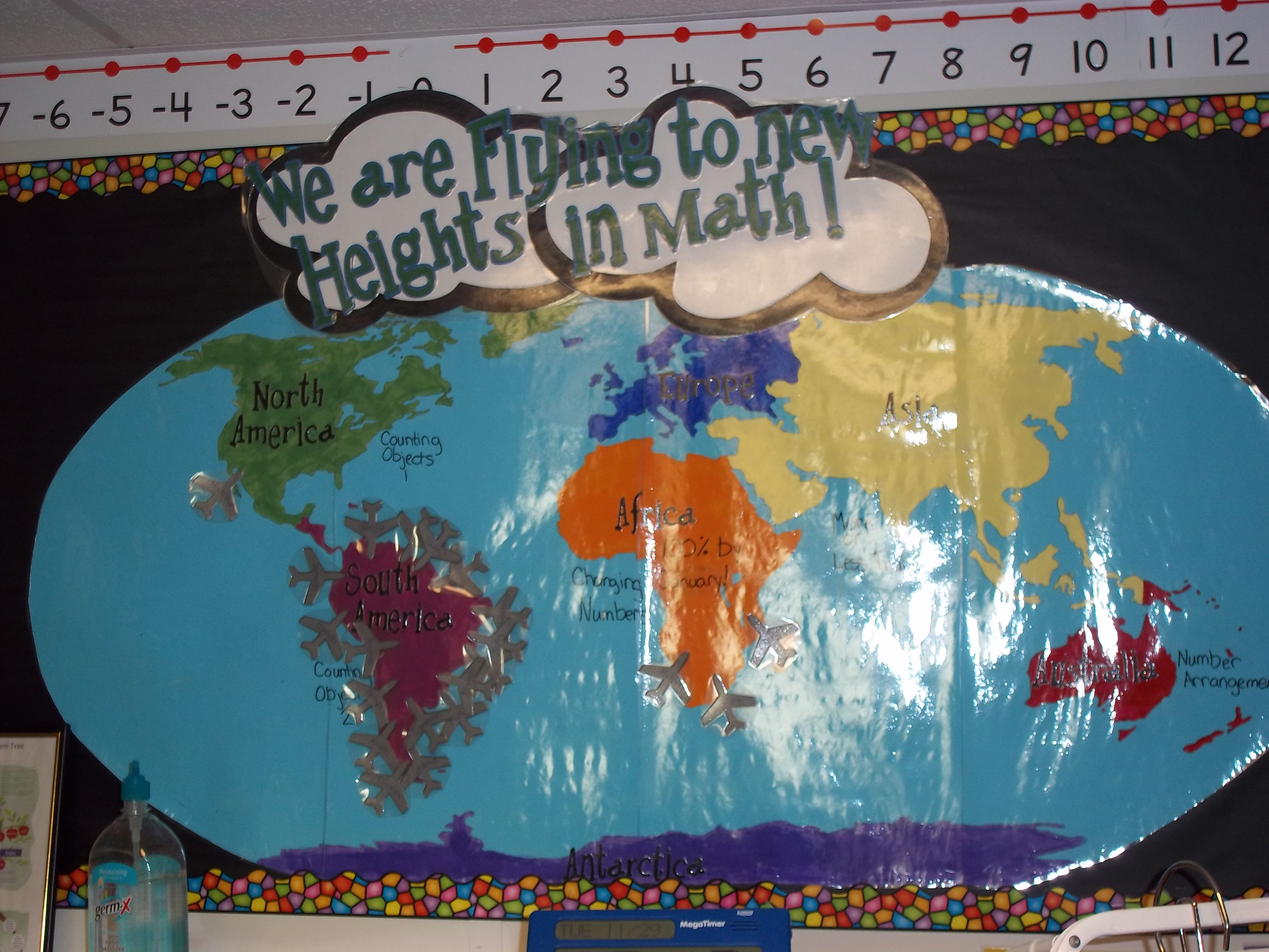 My Math Tracker The Students Learn The Continents While