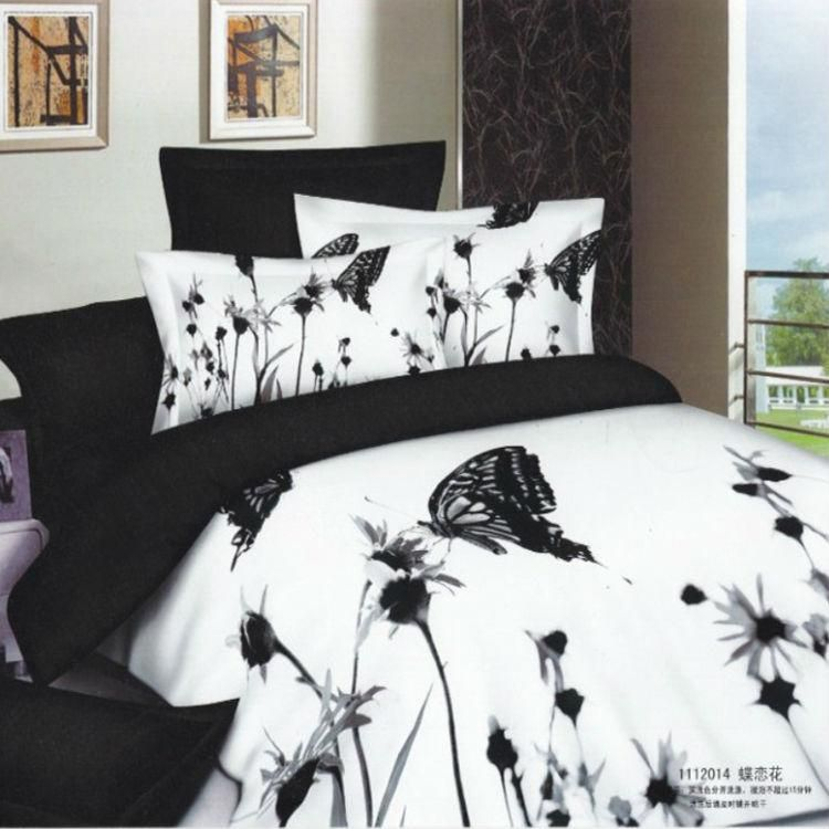 Black And White Unique Bedding Set
