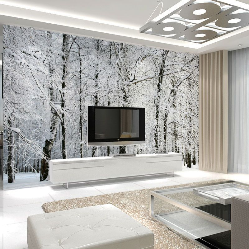 Large Wall Murals Papel De Parede Snow Birch Trees Forest Photo Wallpaper Mural Bedroom Wallpaper Murals Tree Wallpaper Bedroom Wallpaper Bedroom Feature Wall