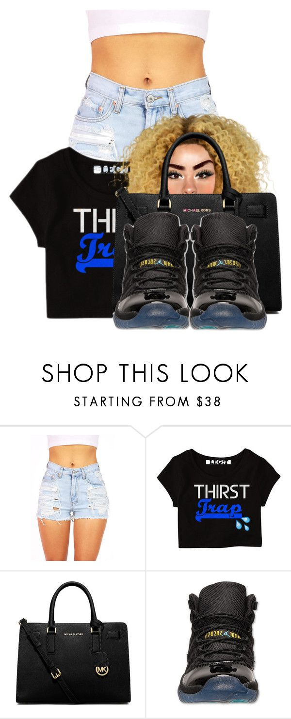"""""""Tapout- Rich Gang"""" by pinkswagg15 ❤ liked on Polyvore featuring MICHAEL Michael Kors and Retrò"""