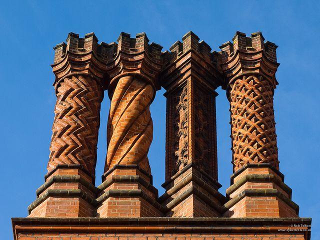 Hampton Court chimneys by cybertect, via Flickr