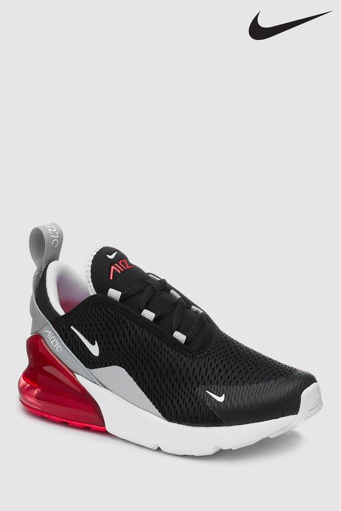 separation shoes 090a9 be308 Boys Nike Black/Grey Air Max 270 Junior - Black   Products ...