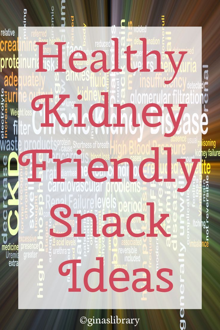 Healthy Kidney Friendly Snack Ideas | Gina's Library