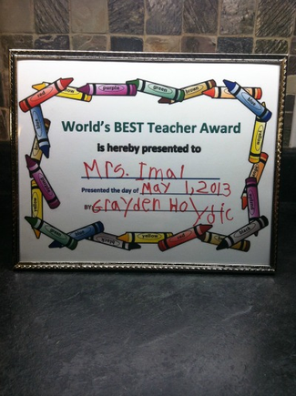 Teacher Award- Teacher appreciation Day; World's best teacher