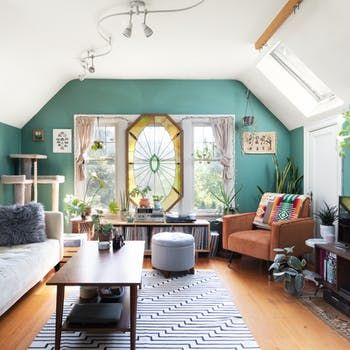 Seattle Home Tour Small Rental Apartment Stained Glass Therapy
