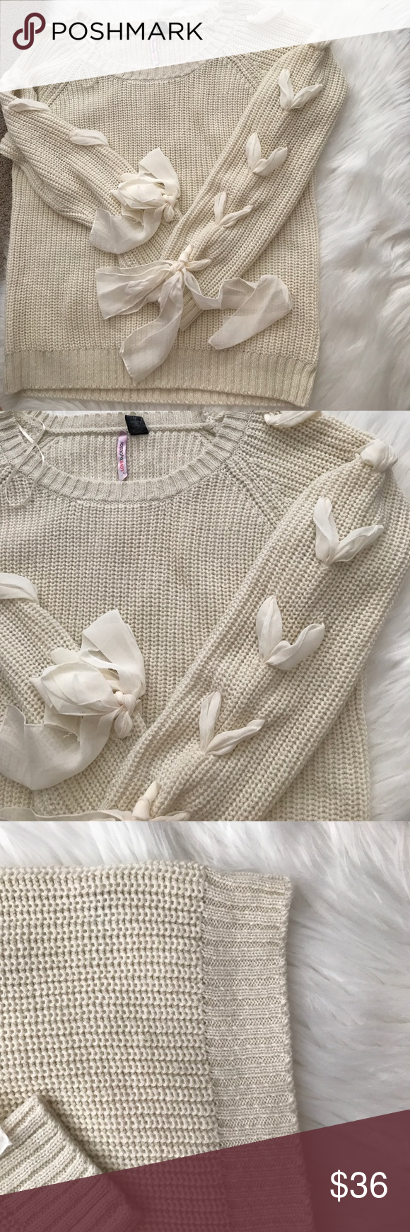 Gorgeous cream sweater size M This is very cute cream sweater soft ...