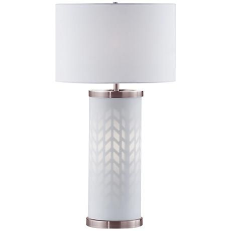 Gisele Cottage White Lattice Column Table Lamp 1r407 Lamps Plus