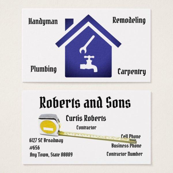 Contractor Business Card Template Custom office supplies #business - office supply template