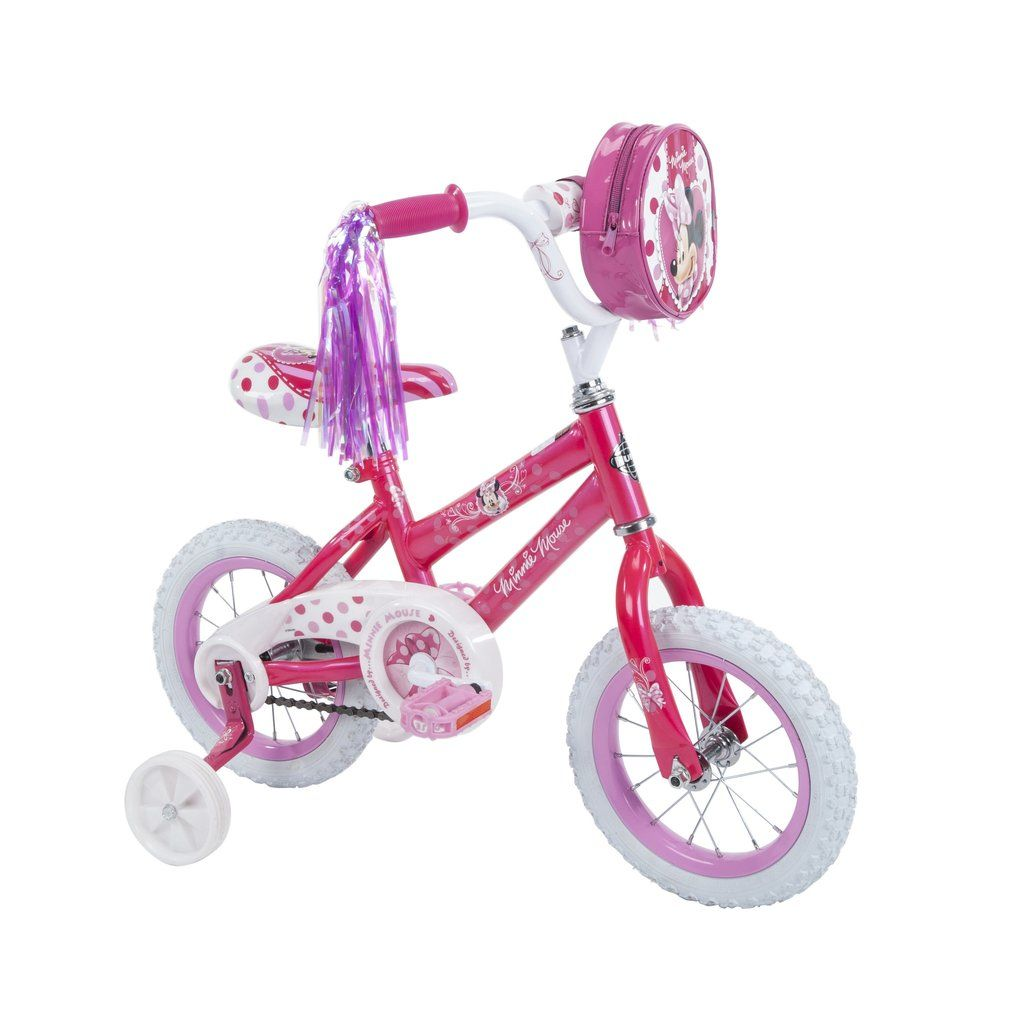12 Inch Disney Minnie Mouse Bike Bicycle With Training Wheels Tricycl Vick S Great Deals Bike With Training Wheels Kids Bike Kids Bicycle