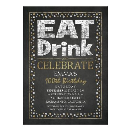 Personalized Adult 100th Birthday Invitations