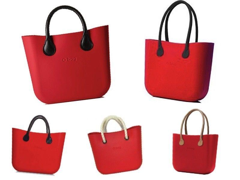 O bag o beach borsa mare rossa con manici e sacca silvanaccessorimoda rosso da mare