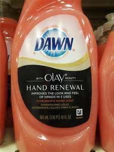 Dawn dish soap with Olay- if you use this it does help your