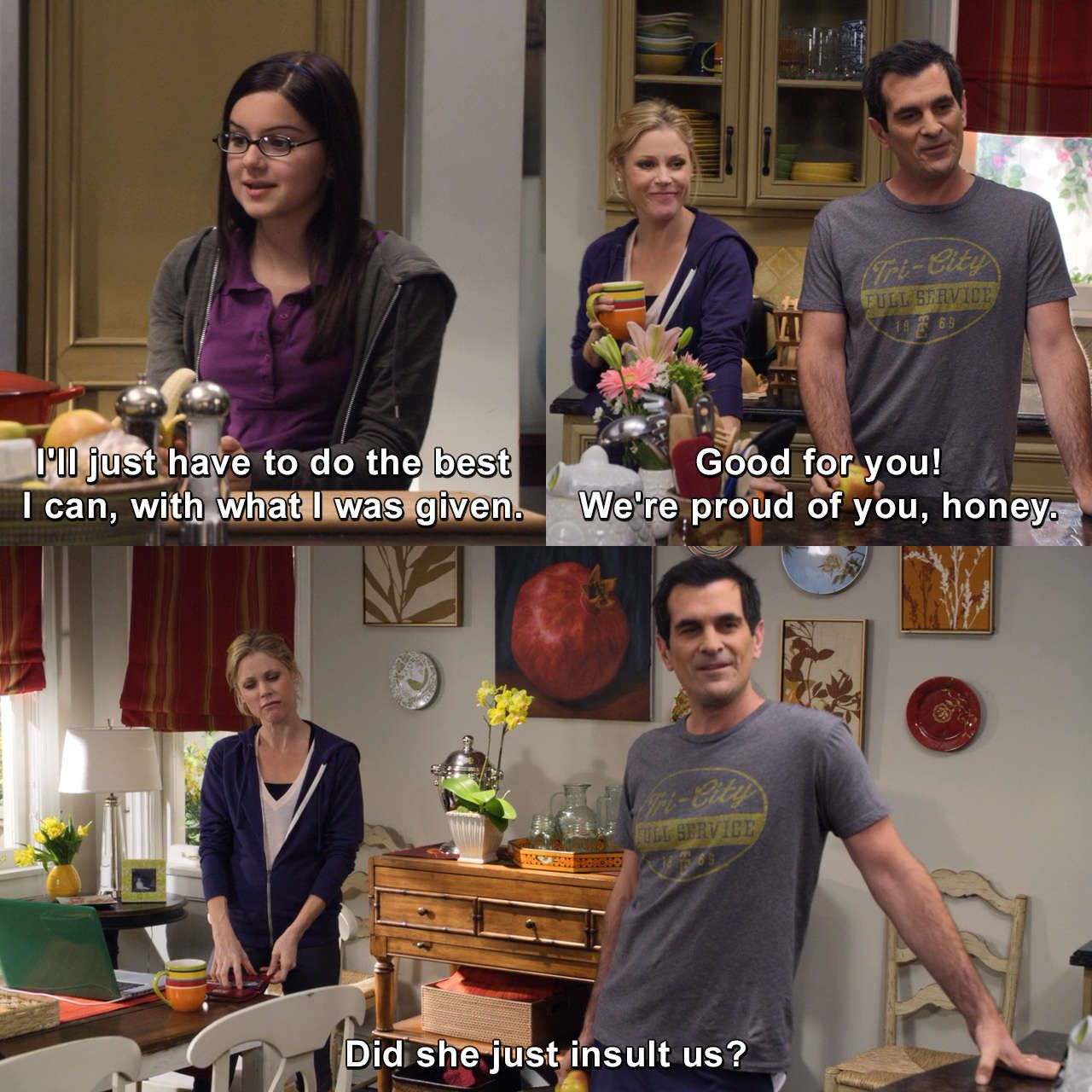 Doing The Best With What Was Given Phildunphy Alexdunphy Clairedunphy Modernfamily Ourchildr Modern Family Memes Modern Family Quotes Modern Family Funny