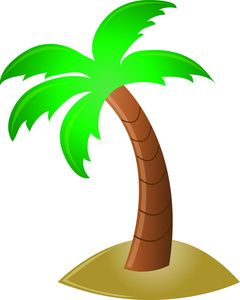 palm tree palm tree and flower for a craft for the tiki bar rh pinterest com free clipart palm tree silhouette free clipart palm tree silhouette