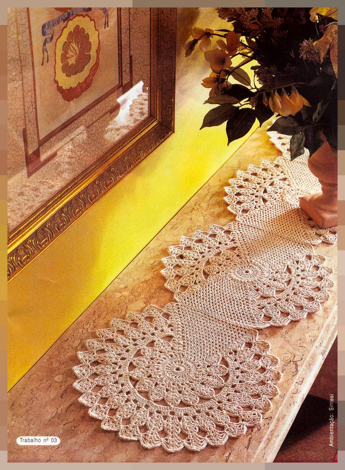 Ideias de croche com linha fina