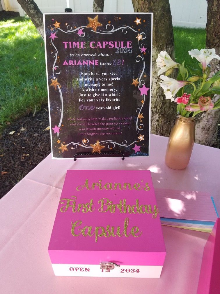 Arianne\'s 1st Birthday time capsule | Ariannes Bday | Pinterest ...