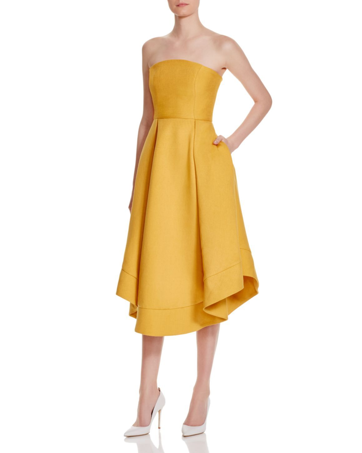 C Meo Collective Making Waves Strapless Dress 100 Exclusive Women Dresses Cocktail Party Bloomingdale S Dresses Cocktail Dress Yellow Silk Wrap Dresses [ 1450 x 1160 Pixel ]