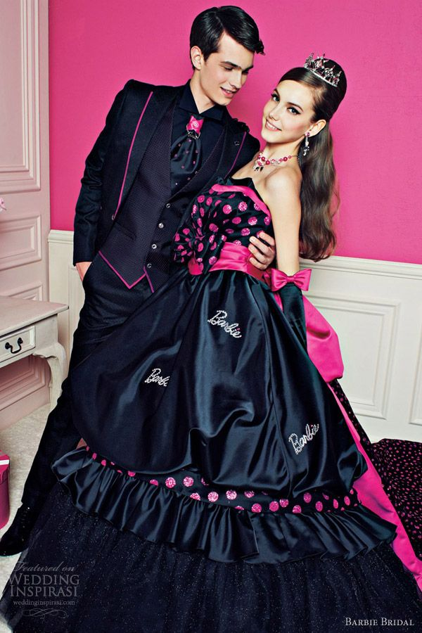 Barbie Bridal 2012 Wedding Dresses | Pink and Black, Brown or Gray ...