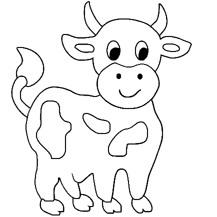 Cow 3 Coloring Page Cow Coloring Pages Farm Animal Coloring Pages Animal Coloring Books