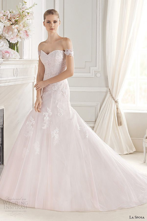 La Sposa One Shoulder Wedding Gown