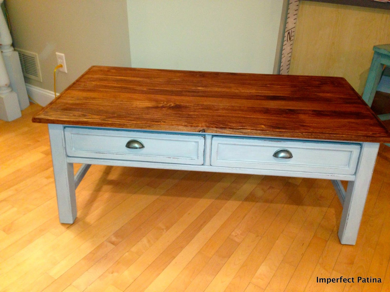 annie sloan paris grey coffee table redo imperfect patina my