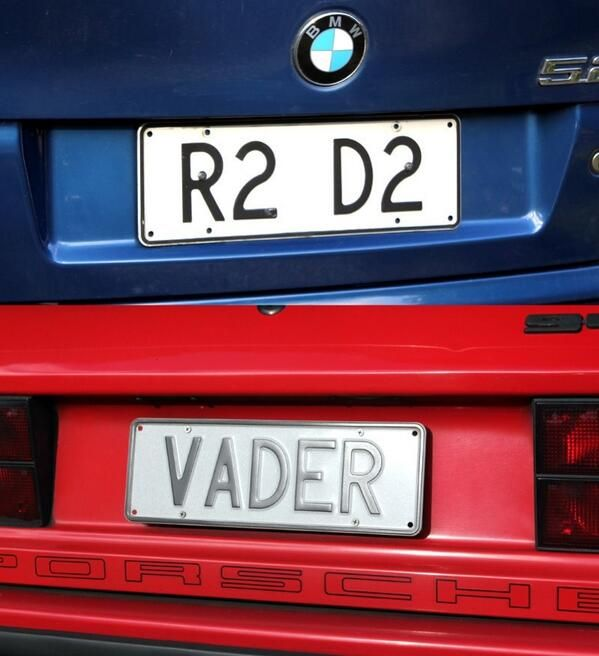 Fully Operational Fandom Star Wars License Plates