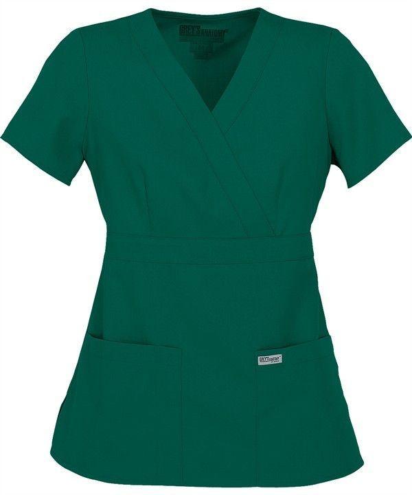 8ce4ebae3bb Grey's Anatomy 3 Pocket Mock Wrap - Hunter Green | Products | Greys ...