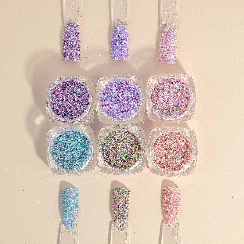 2g New Dazzling Finest Mixed Colors Nail Powder Nail Galitter Nail ...