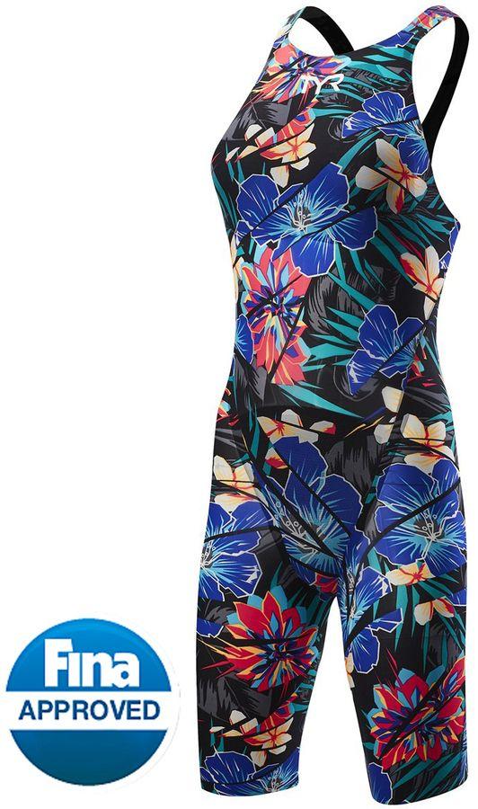 31da4f1a07b TYR Women's Limited Edition Lava Avictor Closed Back Kneeskin Tech Suit  Swimsuit 8150984