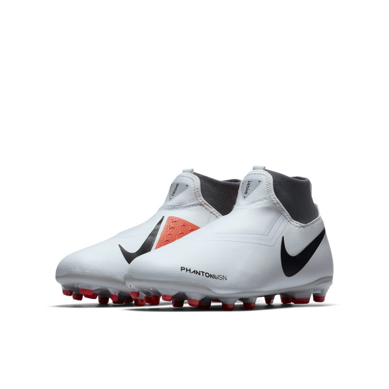 04b6dac3f Nike Jr. Phantom Vision Academy Dynamic Fit Younger Older Kids Multi-Ground  Football Boot - Silver
