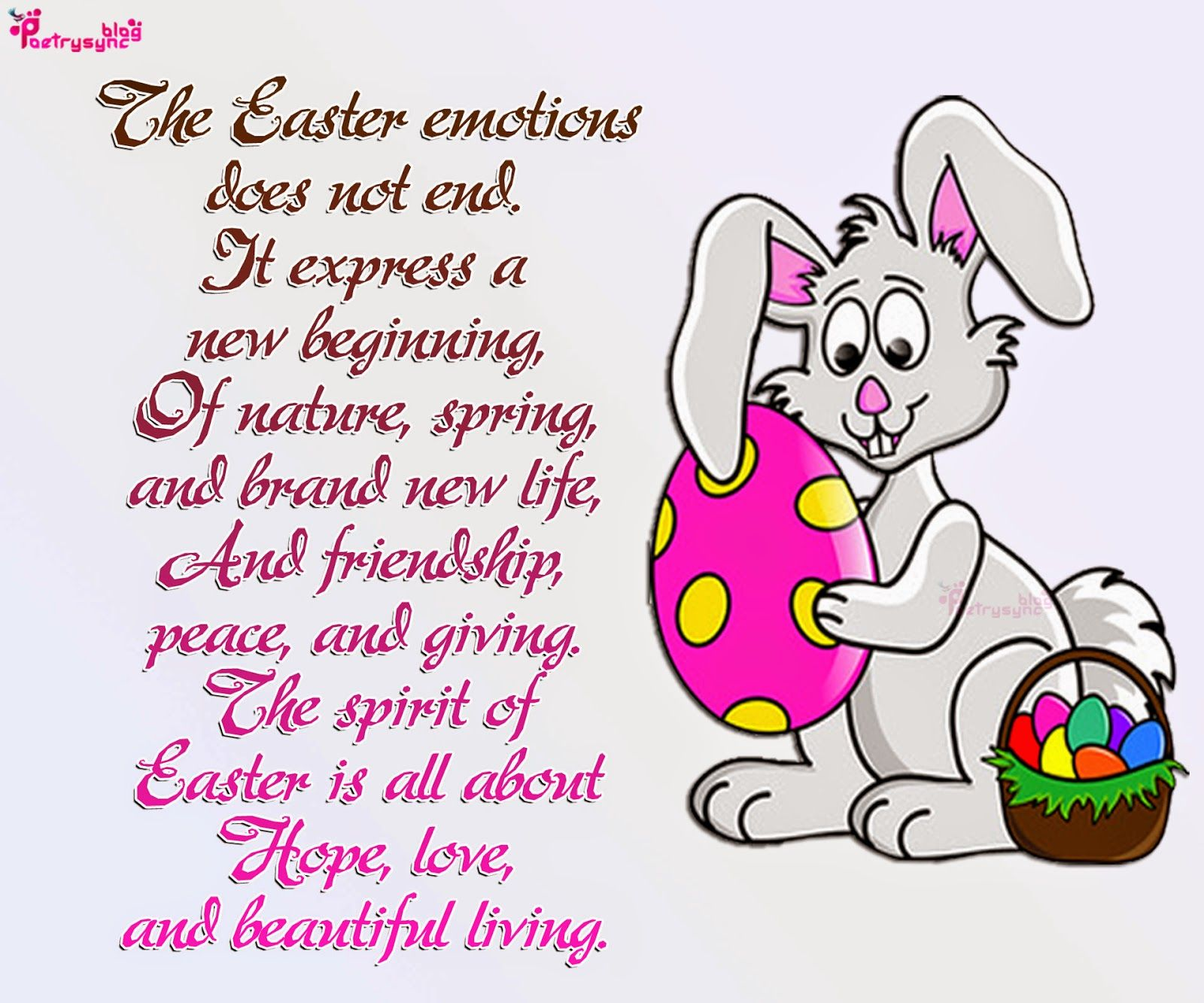 Happy Easter Greetings with pictures and poems 31