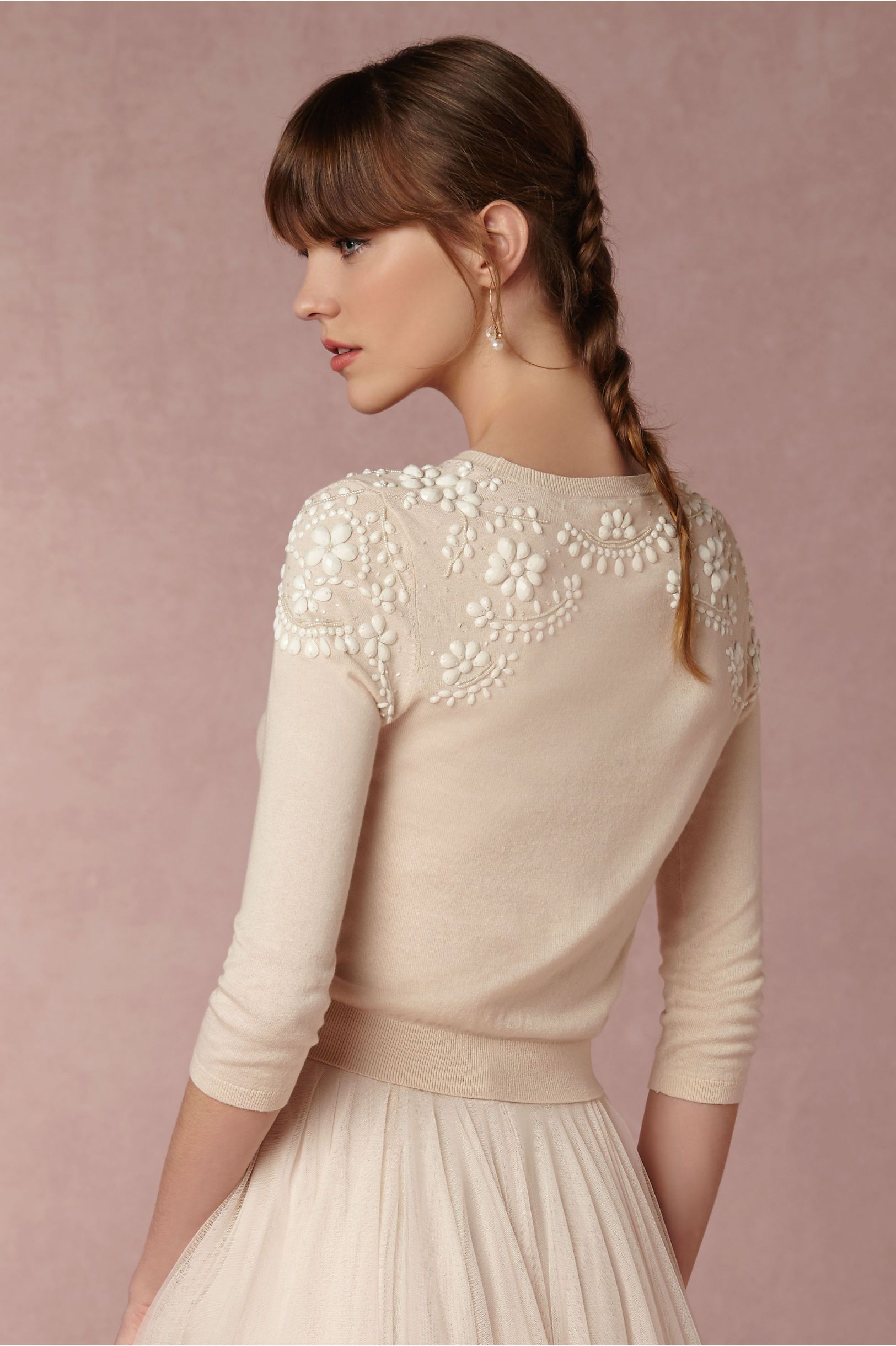 sooooo cute!! BUT: JULY BHLDN Millie Sweater in Bride Bridal ...