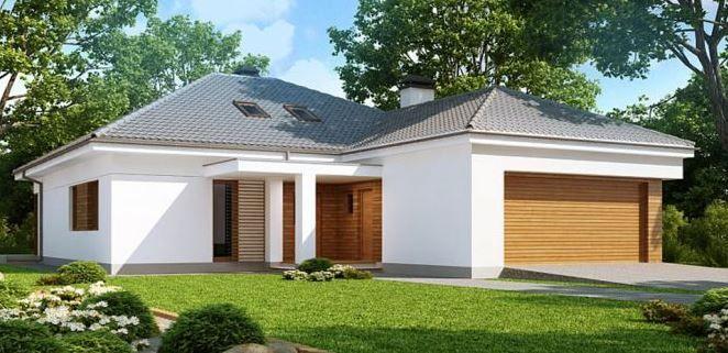 Plano De Linda Casa Moderna Con Techo De Tejas Y 3