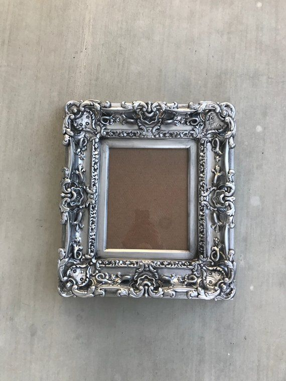 8x10 Antique Silver Frame Style Baroque Picture Art Frames Wall Cottage Chic