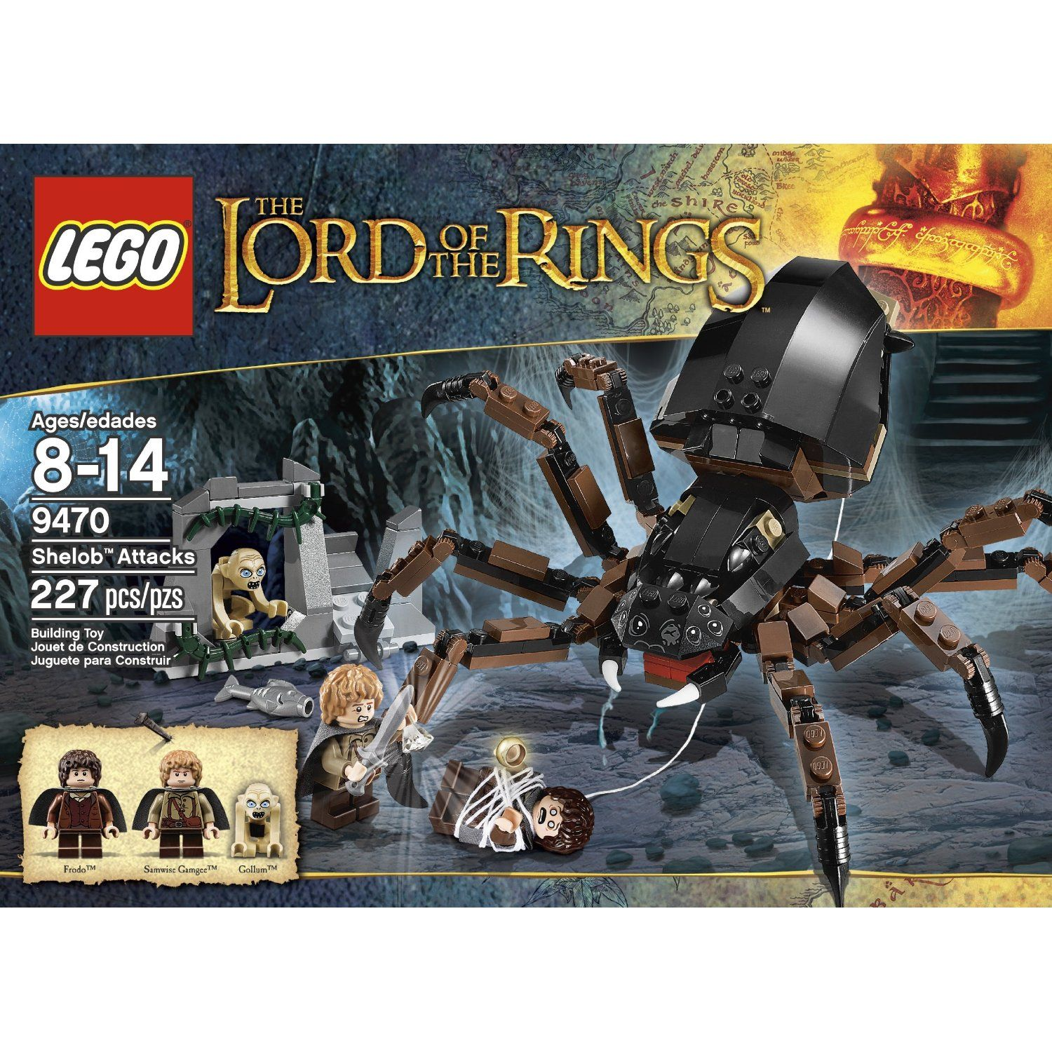 Amazon Com Lego The Lord Of The Rings Hobbit Shelob Attacks 9470