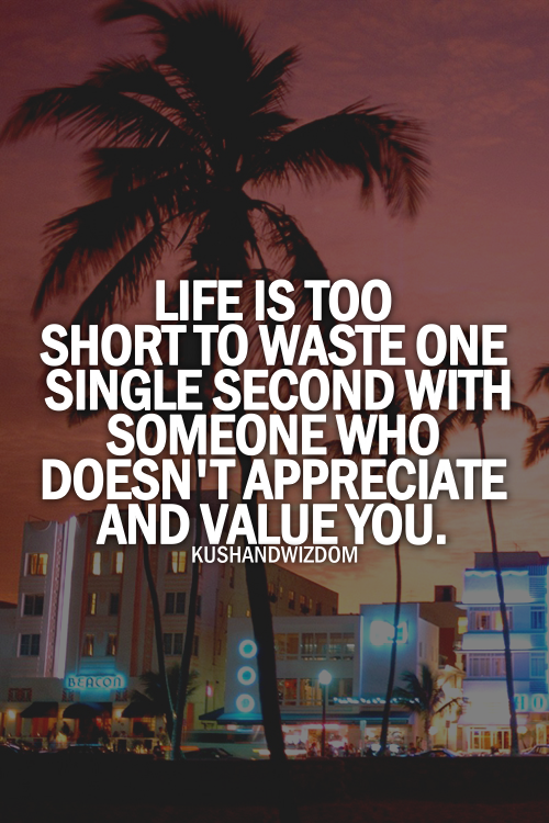 Life Is Too Short Dont Waste Your Time Quotes About Life