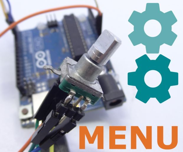 Easy Arduino Menus for Rotary Encoders | Arduino, Menu and Arduino ...