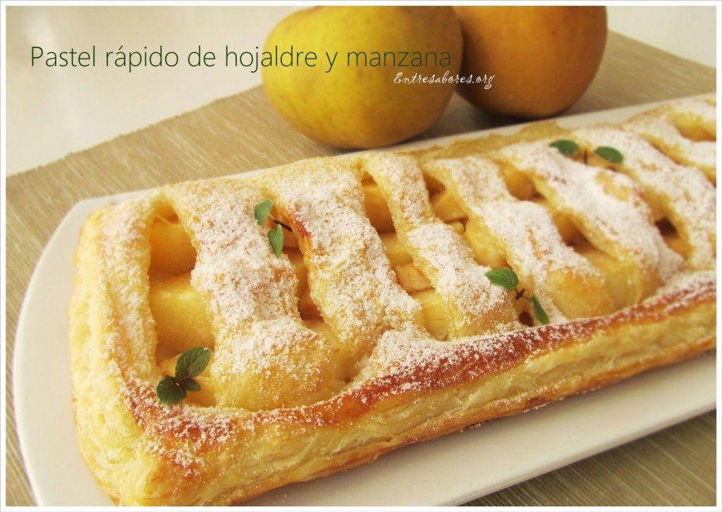 Pastis fàcil de pasta del fulls i poma