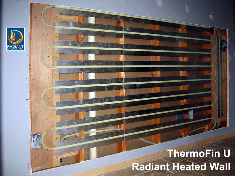Radiant Heated Wall Using Thermofin Heat Transfer Plates From
