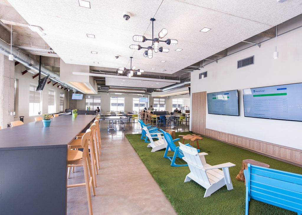 Office Tour HomeAway   Austin Offices is part of Corporate Office Organization - Perkins+Will has designed the new offices of vacation rental website HomeAway which are one of four located in Austin, Texas  HomeAway's office at the Domain is its fourth and largest office…