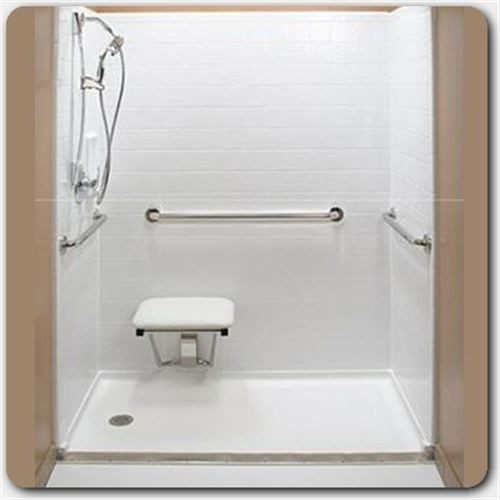 tub space converted to accessible shower handicap equipped rh pinterest com