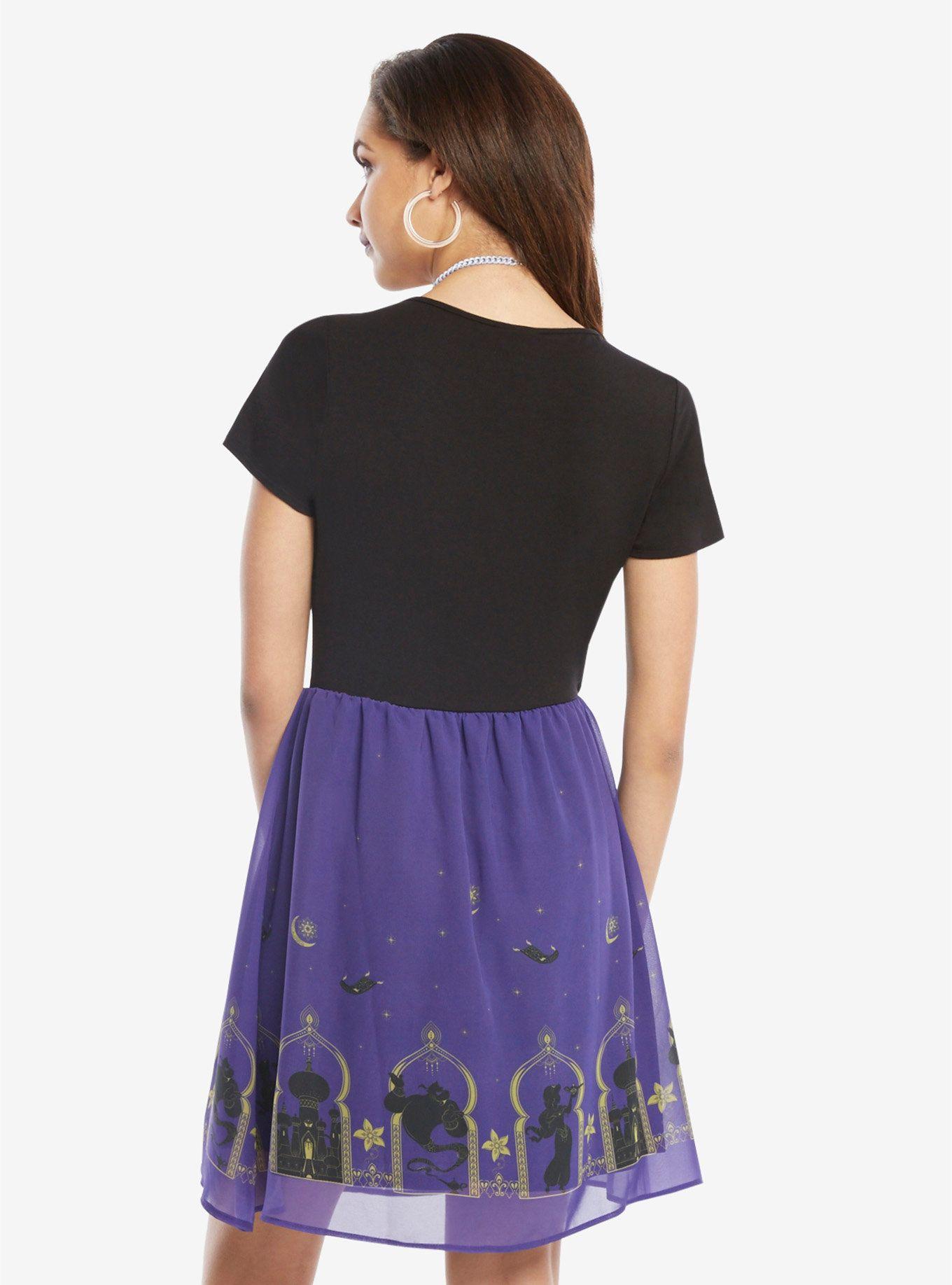 639baefc7 Disney Aladdin Border Print Dress, | My wardrobe | Dresses, Chiffon ...