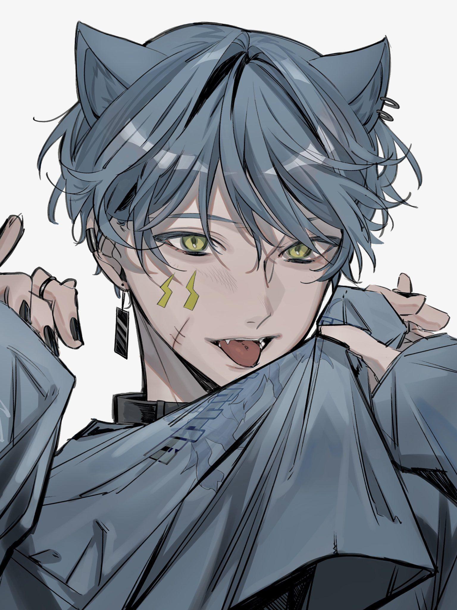 萩 ハギ on twitter anime cat boy anime drawings boy cute anime character