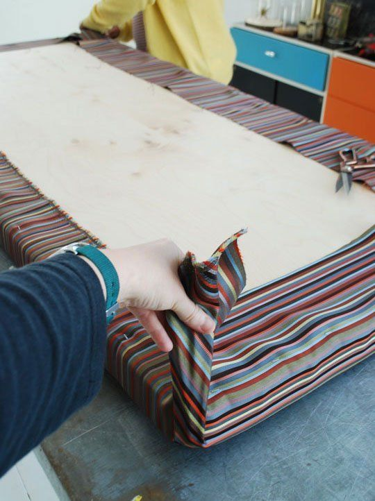 how to make an easy no sew cushion outdoors camper cushions rh pinterest com