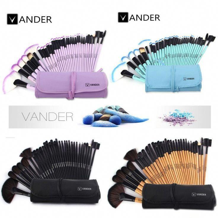 7d72b30b053 VANDER 32pcs Makeup Brushes Set Professional Cosmetics Brush Eyebrow  Foundation Shadows Kabuki Make Up Tools Kits Pouch Bag #topmakeupaccessories