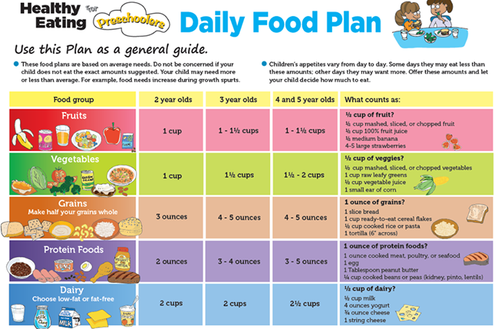 Preschool food chart also daily plan for preschoolers suggested by usda  sweet rh pinterest