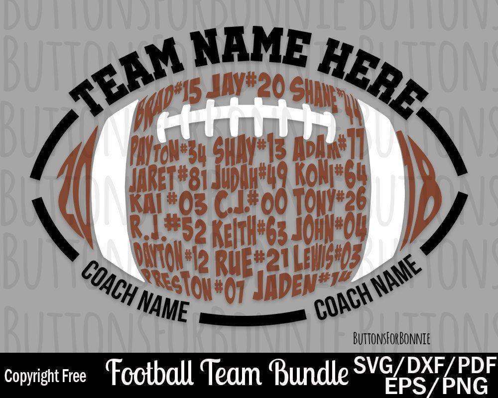 football svg, football team svg, team names svg, b