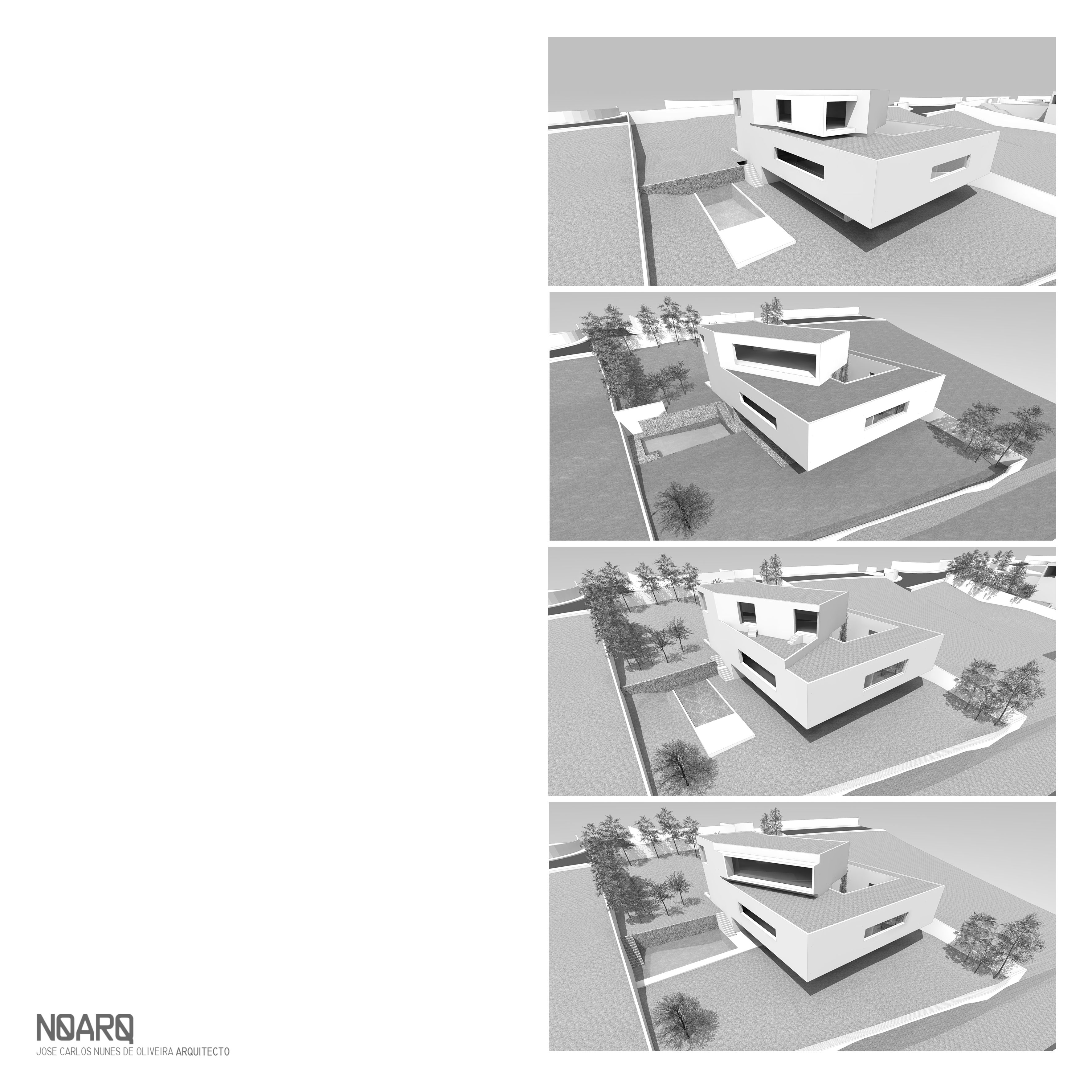 RPFV HOUSE - Preliminary study rendering - abandon version - #noarq #construction #house #scale #model #architecture #white by José Carlos Nunes de Oliveira - © NOARQ